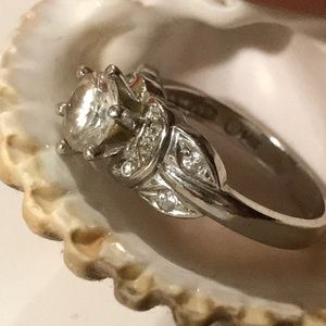WILL YOU MARRY ME? 14K White Gold Engagement Ring